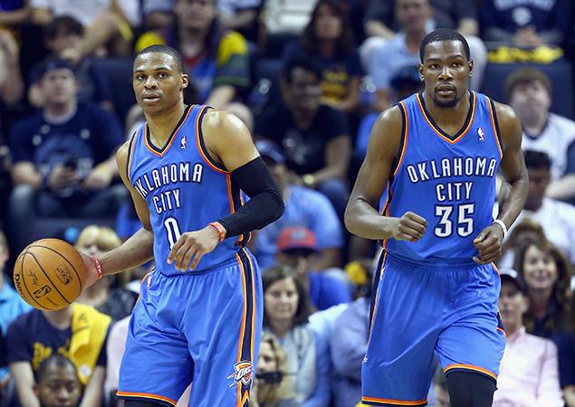 Kevin Durant 36 pts, 8 rbds et 6 passes , Westbrook 23 pts, 13 passes et 8 rbds