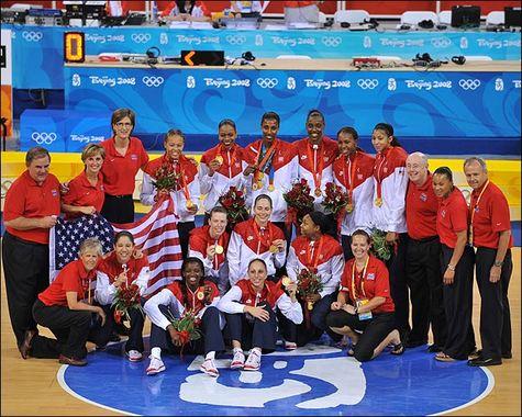 JO-2008 - Quadruplé pour les Américaines et Lisa Leslie