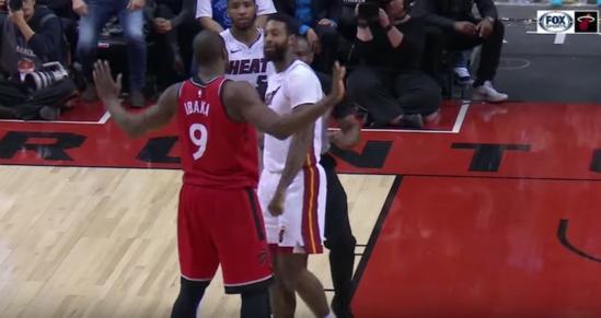 Une suspension d'un match pour Serge Ibaka des Raptors et James Johnson du Heat