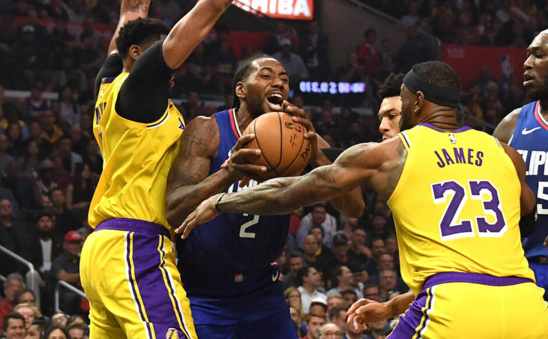 NBA:Kawhi Leonard et les Clippers remportent le derby de Los Angeles face aux Lakers