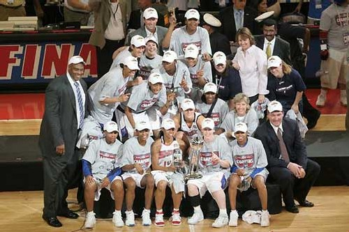 Detroit Shock Campion WNBA 2006 (photo - NBA)