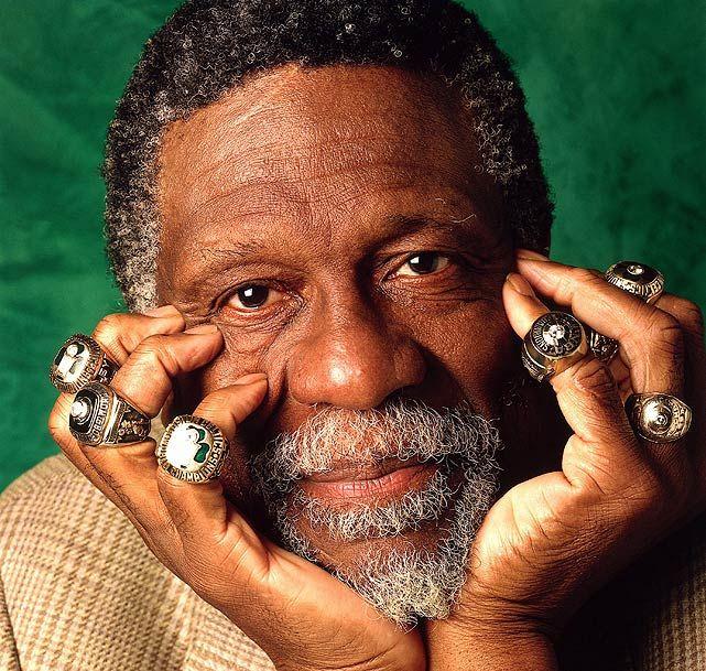 Bill Russell onze bagues, toutes gagnées avec les Celtics de Boston