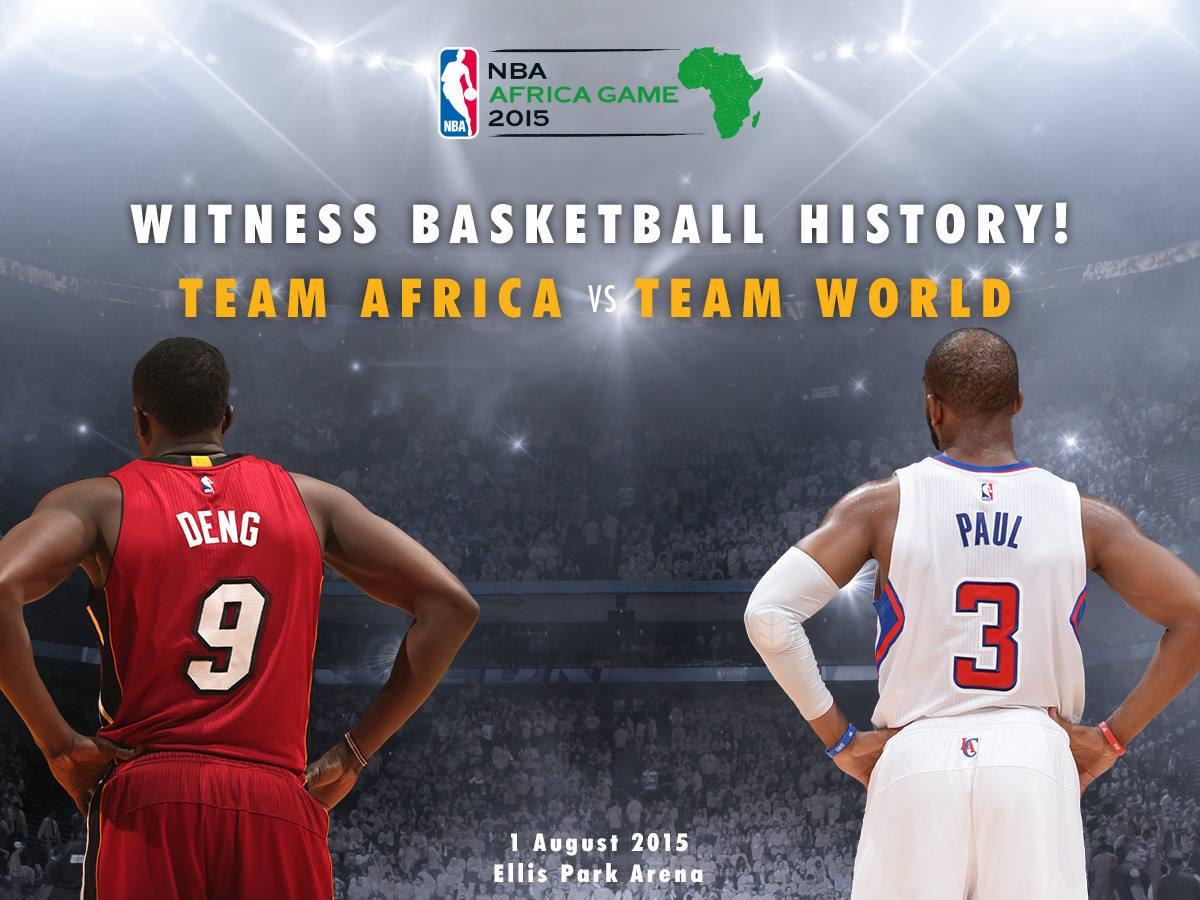 Douze ''Africains'' de la Nba rencontrent neuf joueurs du monde