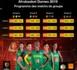 Programme des Matchs de Groupe